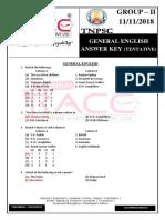 Group 2 General English Answer Key