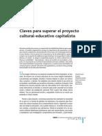 Claves Para Superar El Proyecto Cultural-educativo Capitalista D. JOVER