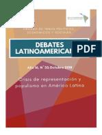 Crisis de representación y populismo en américa latina