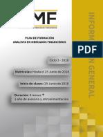 Plan de Formacion Analista en Mercados Financieros Ciclo 3 2018