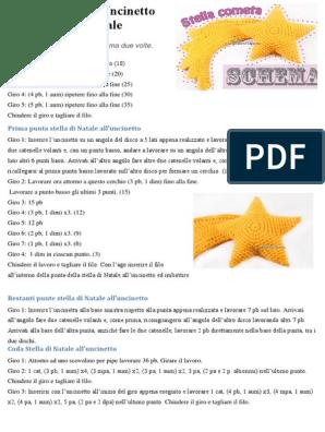 Stelle marine uncinetto: schemi e spiegazioni - manifantasia | 396x298