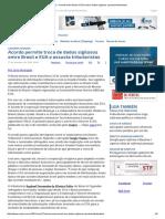 ConJur - Acordo Entre Brasil e EUA Sobre Dados Sigilosos Assusta Tributaristas