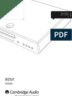 Cambridge Audio BD Player 650BD Users Manual