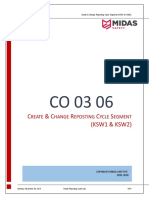 CO 03 06 Create & Change Reposting Cycle Segment (KSW1 & KSW2)
