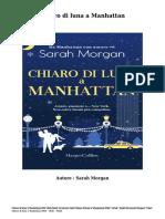 Scaricare Libri Chiaro Di Luna a Manhattan Gratis Di Sarah Morgan