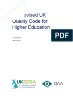 Revised Uk Quality Code for Higher Education