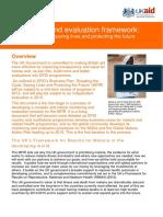 Evaluation Framework Malaria