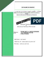 M07 Pose Menuiserie Aluminium Chantier-BTP-MA