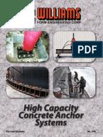 High Capacity Concrete Anchor Systems