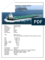 Particular& General Arrangement HANJIN PIONEER