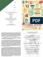 CORAL DIVISI Retrobem2018 Programa
