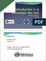 1 - Introduction Mécanique Des Sols - Étudiants