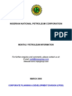 Nnpc Monthly Petroleum Information 03. March 2006