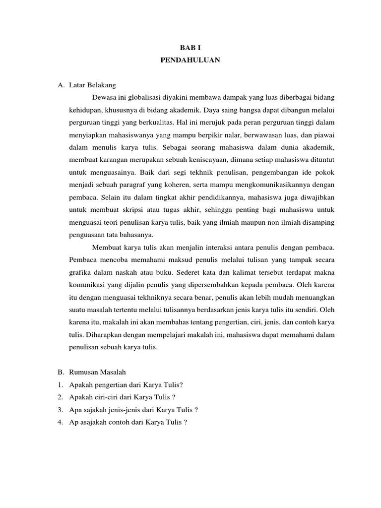 Makalah Bahasa Indonesia 1