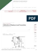 Calibration of Displacer Level Transmitter Instrumentation Tools