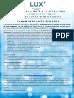 LSAA Job Poster Advert_03 January 2019.HR Director