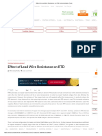 Effect of Lead Wire Resistance on RTD for 2 Wire