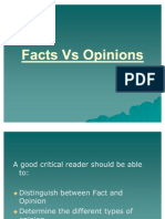 Facts vs Opinions