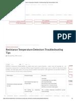 Resistance Temperature Detectors Troubleshooting Tips.