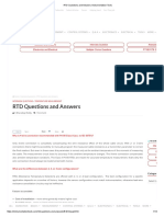 RTD Questions and Answers.