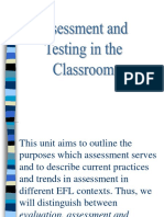 Assessment and Testing in the Classroom