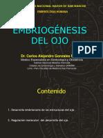 Embriologia Del OJO Dr Carlos Gonzales Medina UNMSM
