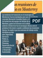 03-01-19 Reactivan reuniones de transición en Monterrey