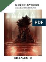 Canción de Hielo y Fuego - Reglamento Castellano