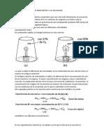 Concentracion de Los Reactantes y La Velocidad (1)