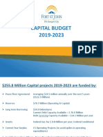 Fort St John Draft Capital Budget 2019-2023