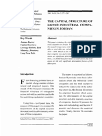The Capital Structure of Listed Companies in Jordan
