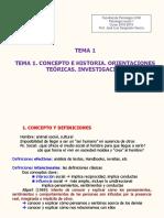 Tema 1. Concepto e Historia. Orientaciones Teóricas. Investigación