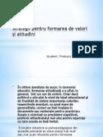 Strategii Pentru Formarea de Atitudini Si Valori