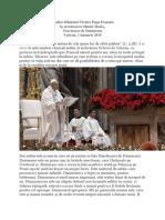 Predica Papei La Solemnitatea Mariei