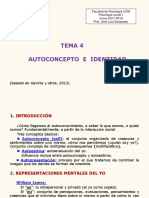Tema 4. Autoconcepto e Identidad