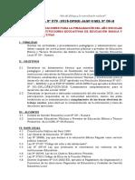 Directiva Finalizacion Año Escolar 2018
