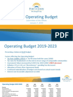 Fort St. John 2019 Draft Operating Budget