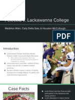 Feleccia vs. Lackawanna College Presentation