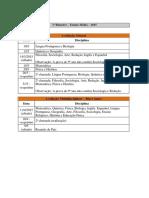 Calendario de Provas 2015