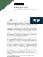 Democracy in Iraq-K.pollack,D.byman