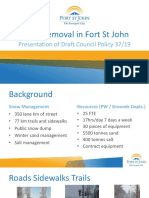 Presentation - Snow Removal in Fort St. John