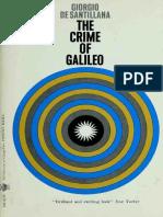 The Crime of Galileo - De Santillana, Giorgio, 1902