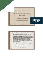Parte Comun - Seguridad y Salud - Ley de Prevencion - Diapositivas