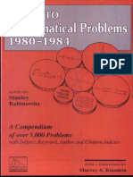 Index to Mathematical Problems