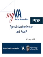 RAMP Rapid Appeals Modernization Program 2018