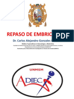 Repaso de Embriologia Especial Dr Carlos Gonzales Medina UNMSM