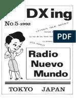 LA DXing No.5 (Radio Nuevo Mundo, 1992, Japón)