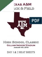 Texas A&M High School Indoor Classic Heat Sheets