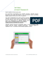 01a CANTAB Connect Research Overview Customer Document