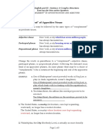 10-02 'Complement' of Appositive Nouns and Adjectives